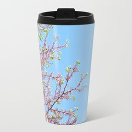 Blossoming Cercis siliquastrum or Judas tree Travel Mug