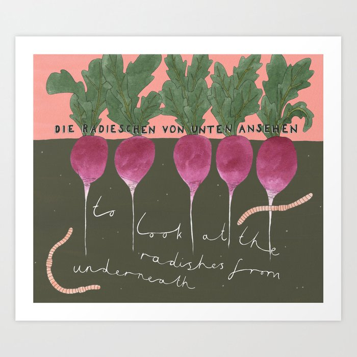 Radishes from Underneath Art Print