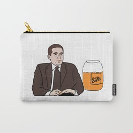 Michael Scott Eating Cheese Balls Carry-All Pouch