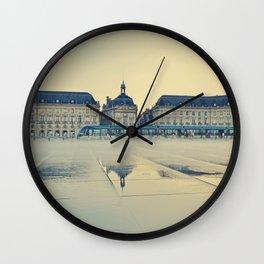 Place de la Bourse, Bordeaux , Fine Art Travel Photography Wall Clock