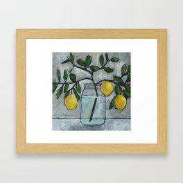 Lemon Branches Framed Art Print