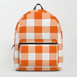 Orange Check Backpack