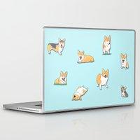 corgi Laptop & iPad Skins featuring Corgi by okayleigh