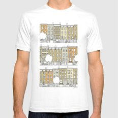 Brooklyn (color) Mens Fitted Tee LARGE White