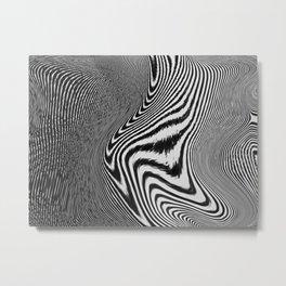 Zebra Topography Metal Print