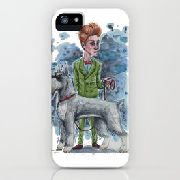 Master & Dog series: The Giant Schnauzer iPhone Case