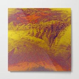 Inox Waves Metal Print