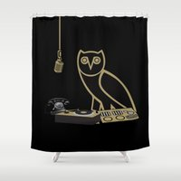 radio Shower Curtains featuring OVOsound Radio by October's Very Own