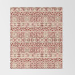 Palestinian embroidery pattern Throw Blanket