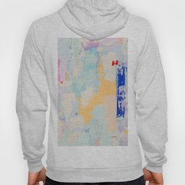 BUTTERCREAM BLUES 2 // ABSTRACT MIXED MEDIA ON CANVAS  Hoody