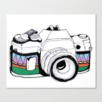 camera Canvas Prints featuring Camera by Mariam Tronchoni