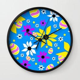 Easter Egg Hunt - Happy  Easter Design Wall Clock