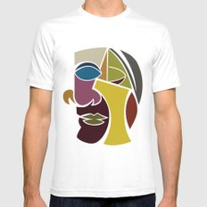 The Face SMALL White Mens Fitted Tee