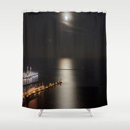 Navy Pier Moonlight Shower Curtain