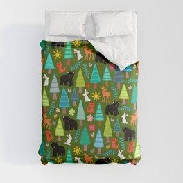 black bear woodland Comforters