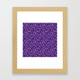 Bright Purple Leopard Spots Animal Print Pattern Framed Art Print