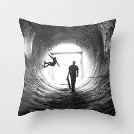 Kick. Push. Coast. Throw Pillow