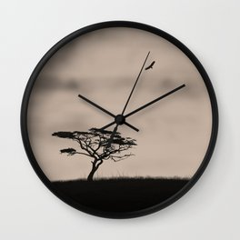 Minimalist jungle landscape Wall Clock