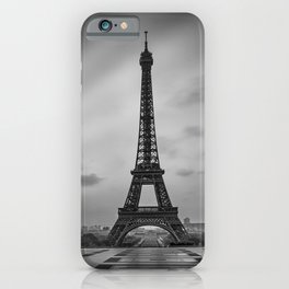 Eiffel Tower at Sunrise | Monochrome iPhone Case