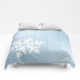 Falling Snowflake Comforters