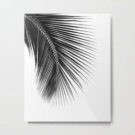 PALM LEAF BLACK Metal Print