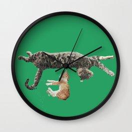 Kitten Nap Wall Clock