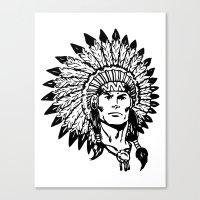headdress Canvas Prints featuring Headdress by Gregg Deal
