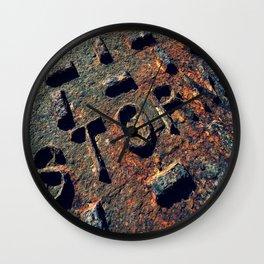 Storm Drain Wall Clock