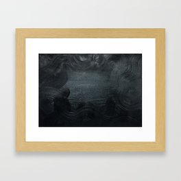 Blackest ever Black Framed Art Print