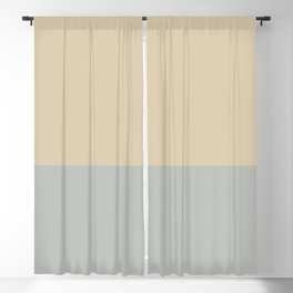 Benjamin Moore 2019 Color of Year Metropolitan & Putnam Ivory Cream Bold Horizontal Stripes Blackout Curtain
