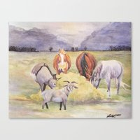 thanksgiving Canvas Prints featuring Thanksgiving by LaurelAnneEquineArt
