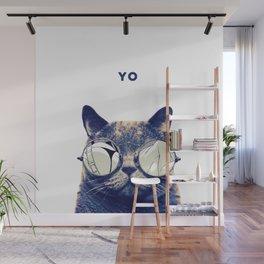 COOL CAT SAYS YO Wall Mural