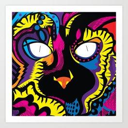 Prismatic Cat Art Print