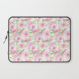 Blush Pink Florals Laptop Sleeve
