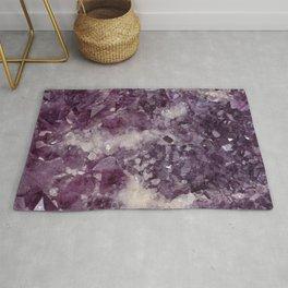 Deep Purple Quartz Crystal Rug