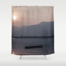 Sunset at Mekong Shower Curtain