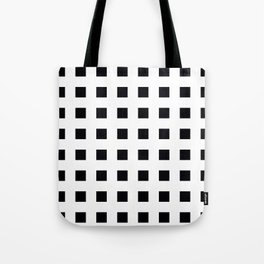 EDELWEISS bold white lines form grid on black background Tote Bag