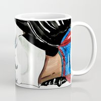 rihanna Mugs featuring Rihanna by Armand Mehidri
