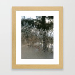 Window feathers Framed Art Print