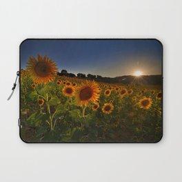 """Sunflowers following the sun"" Laptop Sleeve"