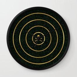 Gold Skull Target Wall Clock