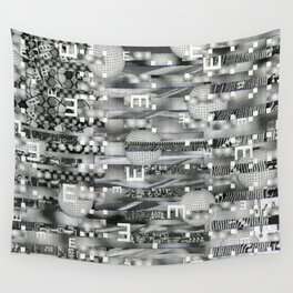 Atomic Bokeh (P/D3 Glitch Collage Studies) Wall Tapestry