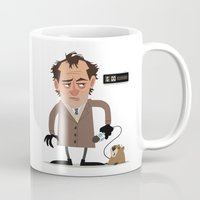 phil jones Mugs featuring Phil by The Drawbridge