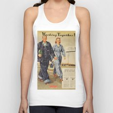 1942 Working Together Cover Unisex Tank Top