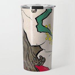 Vintage Alphonse Mucha Poster Girl Travel Mug