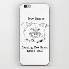 Typo Demons iPhone & iPod Skin