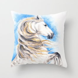 White Andalusian Throw Pillow