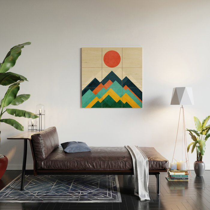 The hills are alive Wood Wall Art