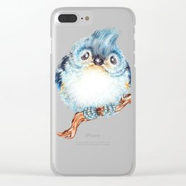 Baby titmouse Clear iPhone Case