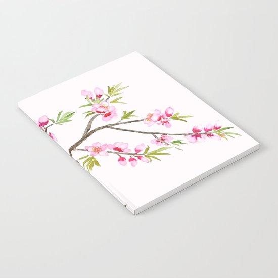 pink peach flowers Notebook